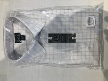 NEW NWT Jos. A. Bank Men's White Check Dress Shirt Size 17.5 - 34 - SUIT CHARITY OUTLET