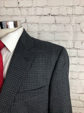 Jos. A. Bank Men's Gray Plaid Wool Blazer Sport Coat Suit Jacket Size 44S $395 - SUIT CHARITY OUTLET