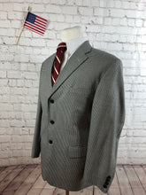 Haggar Men's Black White Houndstooth Blazer Sport Coat Suit Jacket Size 42R $248 - SUIT CHARITY OUTLET