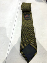 NEW NWOT David Fin Men's Yellow Geometric Pattern Silk Neck Tie $125 - SUIT CHARITY OUTLET