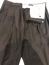 Nautica Men's Brown Stripe Suit 48R 40X30 - SUIT CHARITY OUTLET