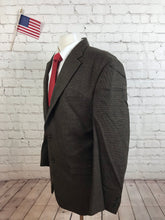 Chaps Men's Brown Check Wool Blazer 44R $395 - SUIT CHARITY OUTLET
