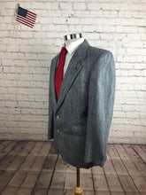 Evan Picone Men's Gray Plaid Wool Blazer 40S - SUIT CHARITY OUTLET