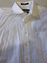 Forsyth of Canada White Solid Cotton Dress Shirt Size 18 34/35 $125 - SUIT CHARITY OUTLET