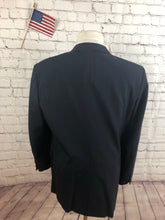 Custom Made Men's Navy Plaid Blazer Sport Coat Suit Jacket Size 40R $295 - SUIT CHARITY OUTLET