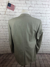 Club Room Men's Beige WOOL BLEND Blazer Sport Coat Suit Jacket Size 46R $215 - SUIT CHARITY OUTLET