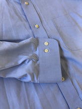 Brooks Brothers Blue Solid Cotton Dress Shirt Size 16 32/33 $125 - SUIT CHARITY OUTLET