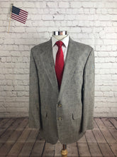 Land's End Men's Gray Plaid Blazer Sport Coat Suit Jacket Size 42R $235 - SUIT CHARITY OUTLET