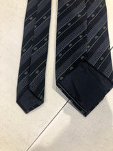 Valentino Men's Navy Blue Stripe Pattern Neck Tie