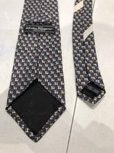Salvatore Ferragmo Men's Dark Gray Geometric Cats Pattern Silk Neck Tie