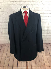 Pronto Uomo Men's Navy Blue Wool Double Breasted Blazer 40R - SUIT CHARITY OUTLET