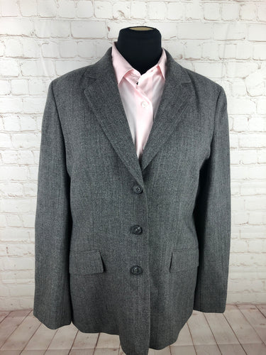 Ann taylor Loft Gray Solid Woman's Blazer $225 - SUIT CHARITY OUTLET