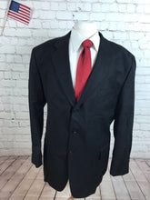 Jos A Bank Men's Black Blazer Sport Coat Suit Jacket 48R - SUIT CHARITY OUTLET