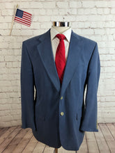 Norm Thompson Men's Blue SILK Blazer Sport Coat Suit Jacket 42S $395 - SUIT CHARITY OUTLET