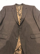 Chaps Men's Brown Houndstooth Wool Blazer 44R $395 - SUIT CHARITY OUTLET