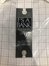 NEW NWT Jos. A. Bank Men's White Check Dress Shirt 16.5 - 34 - SUIT CHARITY OUTLET