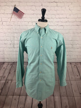 Ralph Lauren Men's Green Button Down Dress Shirt 16.5 32/33