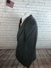 Custom Made Men's Gray WOOL Blazer Sport Coat Suit Jacket 46L $395 - SUIT CHARITY OUTLET