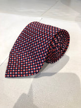 NEW NWOT David Fin Men's Red Geometric Pattern Silk Neck Tie $125 - SUIT CHARITY OUTLET