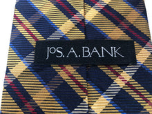 Jos. A. Bank Men's Navy Plaid Silk Neck Tie - SUIT CHARITY OUTLET
