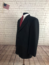 Andrew Fezza Men's Black Houndstooth Super 100's Wool Blazer S42R - SUIT CHARITY OUTLET