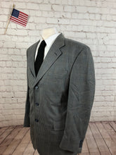 Jos. A. Bank Men's Gray Houndstooth Silk Blend Blazer 42R - SUIT CHARITY OUTLET