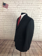 Haggar Men's Gray Stripe 2 Button Blazer Sport Coat Suit Jacket Size 38R $195 - SUIT CHARITY OUTLET