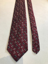 NEW NWT Robert Talbot Men's Burgundy Geometric Pattern Silk Neck Tie - SUIT CHARITY OUTLET