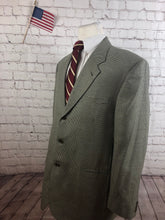 Leveti Men's Beige Houndstooth Blazer Sport Coat Suit Jacket Size 46L $395 - SUIT CHARITY OUTLET