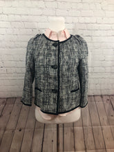 NEW NWT Talbots Women's Black White Textured Cotton Blazer Suit Jacket Size 4 - SUIT CHARITY OUTLET