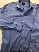 Jos. A. Bank Men's Blue Check Cotton Dress Shirt 17.5 - 34/35 - SUIT CHARITY OUTLET