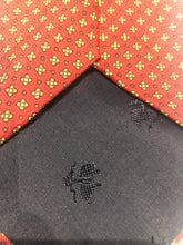 Brooks Brothers Men's Orange Geometric Pattern Silk Neck Tie - SUIT CHARITY OUTLET