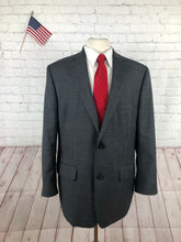 Greg Norman Tasso Ella Men's Gray Plaid Suit 44R 38x28 - SUIT CHARITY OUTLET