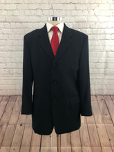 Kenneth Cole Men's Navy Blue Three Button Suit 42R 32X31 - SUIT CHARITY OUTLET