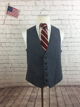 Custom Made Men's Gray Plaid Formal Suit Vest Size M - SUIT CHARITY OUTLET