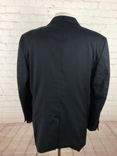 Jos A Bank Solid Black Suit 44R 37x32 - SUIT CHARITY OUTLET