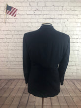 Stafford Men's Navy Stripe Wool Blend 2 Button Suit Size 38R 31x28 $245 - SUIT CHARITY OUTLET