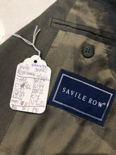 Savile Row Men's Green Wool Suit 46L 37X32 - SUIT CHARITY OUTLET