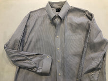 Jos. A. Bank Men's White Stripe Cotton Button Down Dress Shirt 17-33 - SUIT CHARITY OUTLET