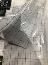 NEW NWT Jos. A. Bank Men's White Check Dress Shirt 17 - 35 - SUIT CHARITY OUTLET