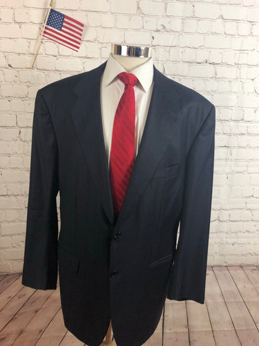 Kiton Men's Navy Stripe WOOL Blazer Sport Coat Suit Jacket 46L $5,995 - SUIT CHARITY OUTLET