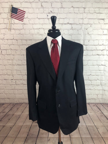 Jos. A. Bank Men's Gray Stripe 2 Button Suit 42L Pants 37X31 - SUIT CHARITY OUTLET