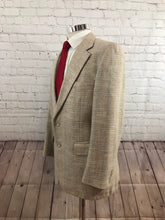 John Alexander Men's Beige Plaid 2 Button Blazer Sport Coat Suit Jacket Size 38R $235 - SUIT CHARITY OUTLET