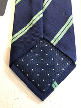 NEW NWT Charles Tyrwhitt Men's Navy Blue Stripe Pattern Silk Neck Tie - SUIT CHARITY OUTLET