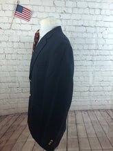 Stafford Men's Navy WOOL BLEND Blazer Sport Coat Suit Jacket Size 44L $325