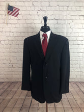 Stafford Men's Black Two Button Blazer Sport Coat Suit Jacket 44R - SUIT CHARITY OUTLET