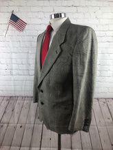 Giorgio Armani Men's Gray Plaid Silk-Wool Blazer Sport Coat Suit Jacket 40S - SUIT CHARITY OUTLET