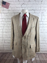 Custom Made Men's Beige Plaid Blazer Sport Coat Suit Jacket 44R $295 - SUIT CHARITY OUTLET