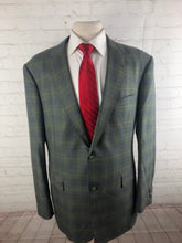 Loro Piana Olive Green Plaid Wool Blazer 44R $3,975 - SUIT CHARITY OUTLET