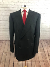 Jones New York Men's Gray Stripe Wool Double Breasted Suit 44L 34X31 - SUIT CHARITY OUTLET